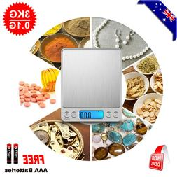 0.01G-3KG Kitchen Food Scale Digital Electronic Balance Weig