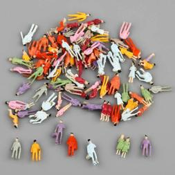 1 Set of 100 Painted People Figures Model Z Scale Train 1:20