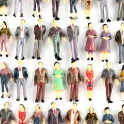 100 1:50 O Scale Mixed Color Pose Model People Figures Passe