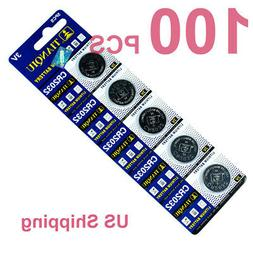 100 PCS CR2032 Lithium Battery 3V Button Cell for Digital Sc