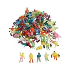 100Pcs 1:200 Painted Model People Figures Plastic for Scale
