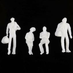 100PCS 1:200 Scale Model Figures People Pure White Different