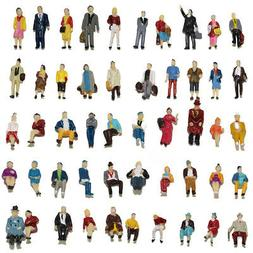 100pcs HO scale Seated Standing People 1:87 Figures Passenge