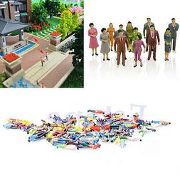 100x 1:100 Building Layout Model People Train HO Scale Paint