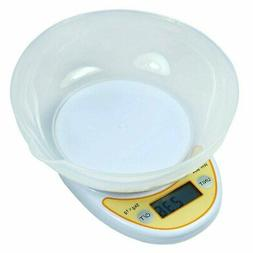 11 lbs x 1g Digital Kitchen Scale Diet Food Scale with Weigh