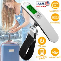 110lb / 50Kg Portable Travel Digital LCD Luggage Scale Weigh
