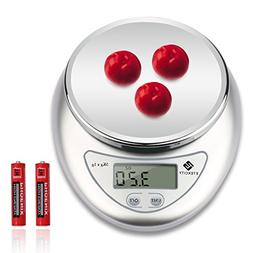 Etekcity 11lb/5kg Digital Kitchen Food Scale, Calibration Su