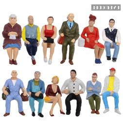 12pcs 1:22.5-1:25 All Seated Painted People G scale Figure M
