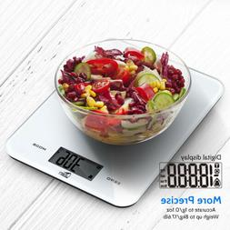 17.6lb/8kg Digital Kitchen Food Scale LCD Display Tempered G