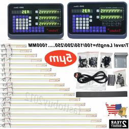 US 2/3Axis Digital Readout DRO Display Linear Scale Encoder