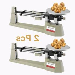 2 Pcs Mechanical Triple Beam Balance Lab Analytical Weighing
