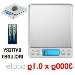 3000g x 0.1g Gram Pocket Digital Scale Jewelry Gold Silver C