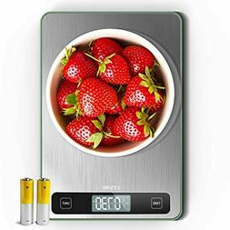 LEVIN 33lb Digital Kitchen Scale, Easy Clean Stainless Steel