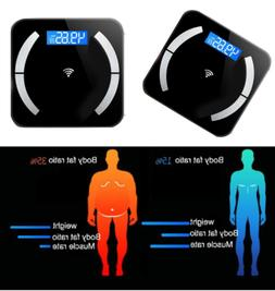 LCD Bluetooth Smart Digital Scale USB BMI Body Fat Muscle We