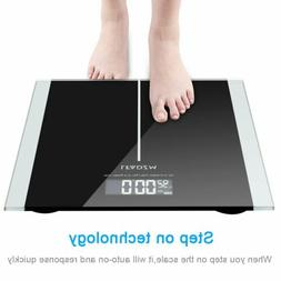 180KG 396lb Tempered Glass Digital Electronic Body Scale Bat