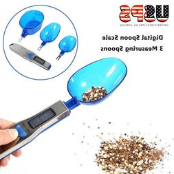 3pcs LCD Display Digital Electronic Kitchen Measuring Spoon