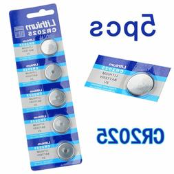 3V Button Cell 5PCS CR2025 DL2025 Battery for scales, calcul