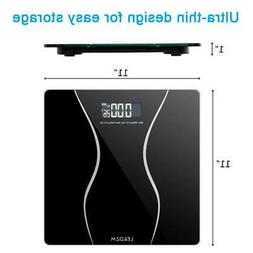 400lb/180KG Digital LCD Glass Bathroom Scale Body Weight Sca