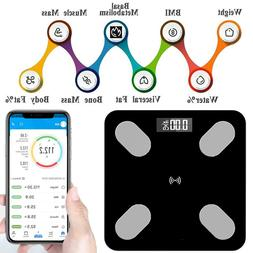 400lb LCD Digital Body Fat Scale Smart Bluetooth APP Bathroo