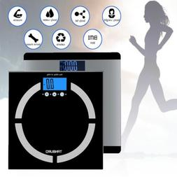 400lb LCD Digital Body Weight Scale Fat Tracking BMI Water B