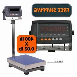 440 LB Digital Shipping Scale Industrial Bench Floor Postal