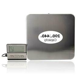 440lbs/0.1LB AC Digital Scales Floor Bench Scale Postal Plat