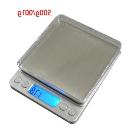 500g x 0.01g Mini Accurate Household Kitchen <font><b>Scales