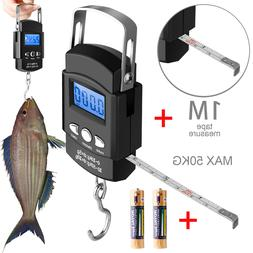 50KG Digital Travel Fish Luggage Hanging Hook with Measuring