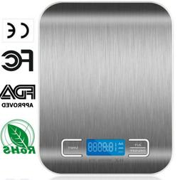 5kg/11lb Stainless Steel Kitchen Scales Digital Electronic C