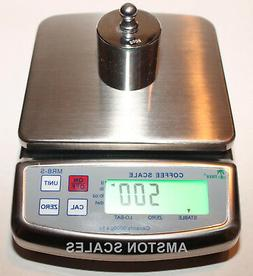 5000 X 1 GRAM DIGITAL SCALE HIGH QUALITY STAINLESS STEEL COF