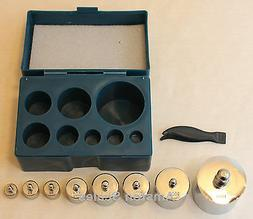 8 PIECE 1000 GRAM TEST WEIGHT CALIBRATION WEIGHT SET SCALE D
