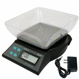 Digital Kitchen Scale with Bowl 3000g x 0.1 Gram AC Adapter