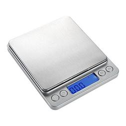 WAOAW 500g/0.01g Digital Pocket Stainless Jewelry & Kitchen