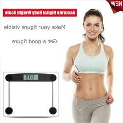Accurate Digital Body Weight Bathroom Scale Tempered Glass L
