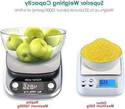 22lb 10Kg Accurate Digital Kitchen Scale Small Food Scale Gr