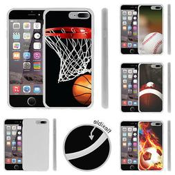 For Apple iPhone 7 Plus  Slim Fitted Flexible TPU Case Popul