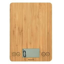 Escali Arti Digital Kitchen Scale 11lb/5kg  BAMBOO
