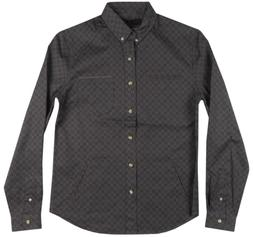 BLACK SCALE BANDED COBRA BUTTON UP LONG SLEEVE SHIRT MENS BL