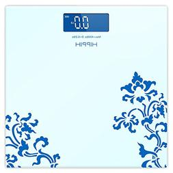 Hippih Digital Body Weight Bathroom Scale with Step-On Techn