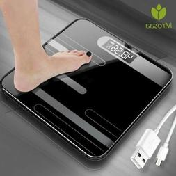 Bathroom Scales Body Floor Glass Smart Electronic Scale USB