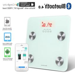 Bluetooth Body Fat Scale with APP Weight BMI Fat Ratio 11 St