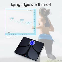 Bluetooth Digital LCD Weight Scales Body Fat Bone BMI Water