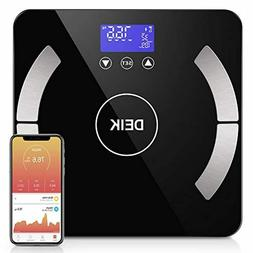 Deik Bluetooth Body Fat Scale, Smart BMI Bathroom Scale with