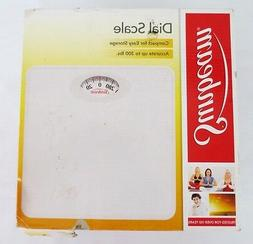 dial bathroom scale compact 4 easy storage