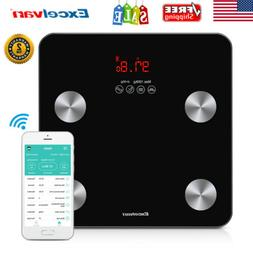 Digital Bluetooth 4.0 Body Fat Weight Scale LCD Bathroom Hea