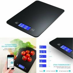 Digital Bluetooth Smart Food Scale with Tempered Glass Surfa