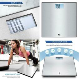 Digital Body Weight Bathroom Scale Stainless Steel Step-On T