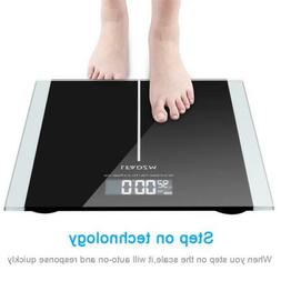 Digital Electronic LCD Personal Glass Bathroom Body Weight W