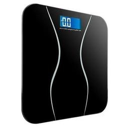 Digital Electronic LCD Personal Glass Bathroom Body Weight S