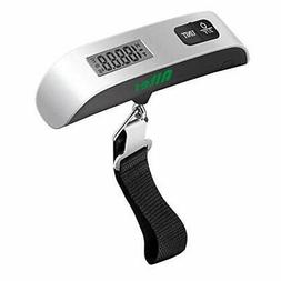 Digital Hanging Luggage Scale 110 Pounds Rubber Paint with T